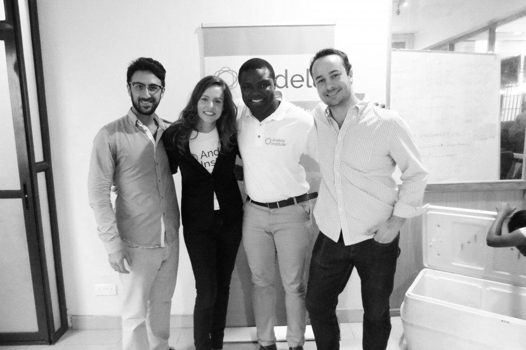 "Andela Co-Founders Ian Carnevale, Christina Sass, Iyin ""E"" Aboyeji, and Jeremy Johnson"