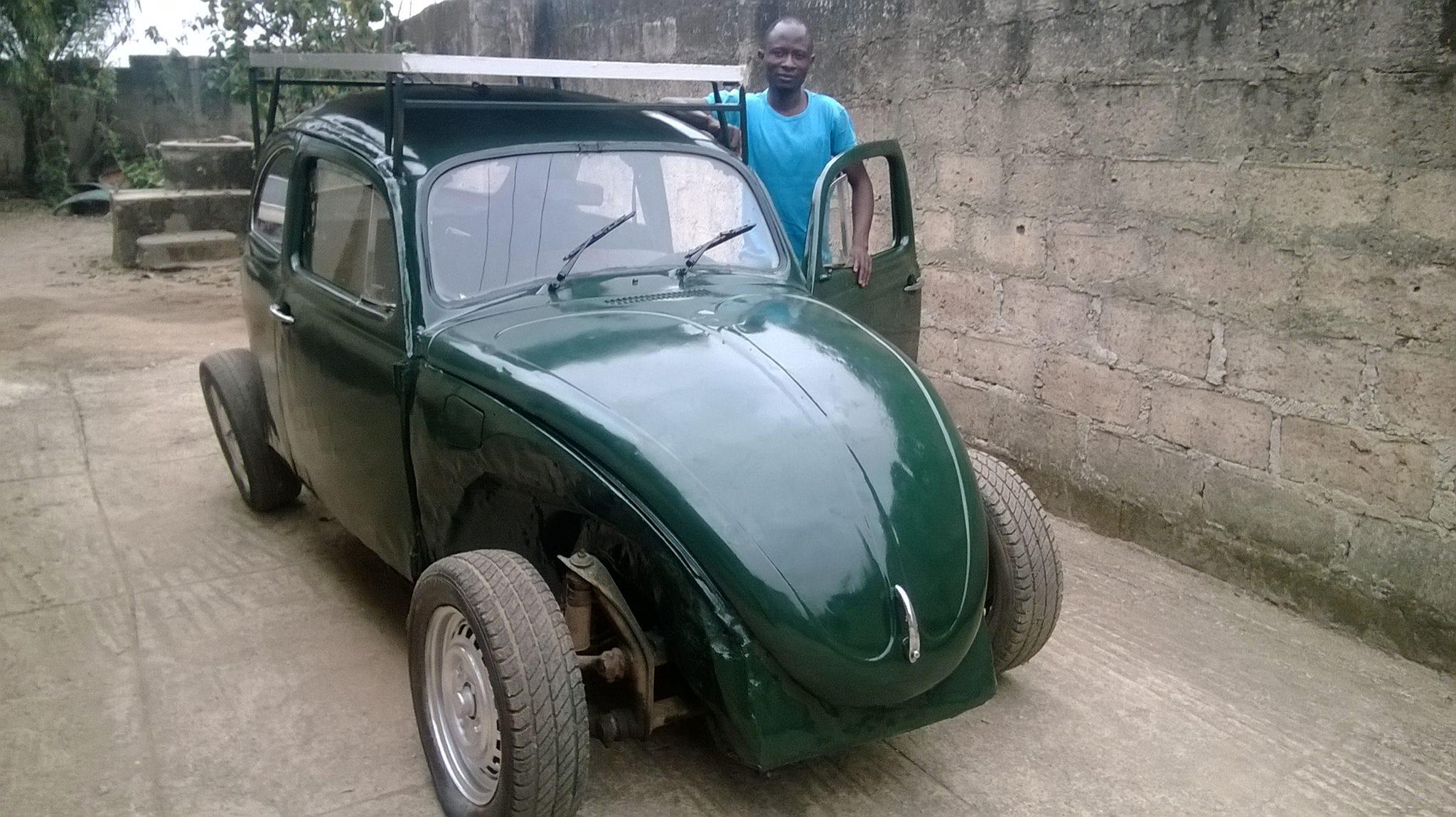 Nigerian Student Turns Vintage Volkswagen Into 6000 Solar