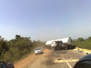 Tanker accident along Abuja road