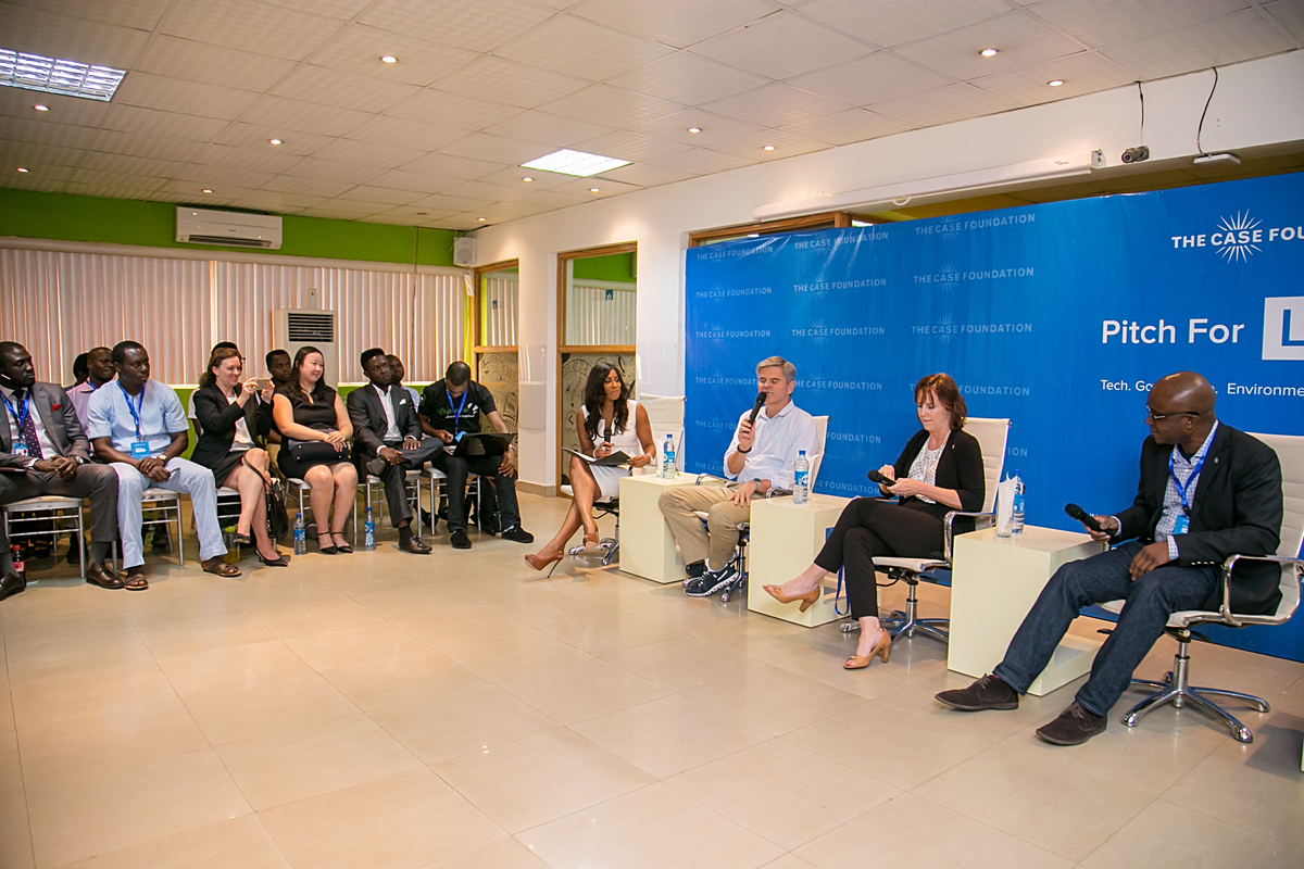 Jean and Steve Case at the Pitch for Lagos competition at the Co-Creation Hub, Yaba.