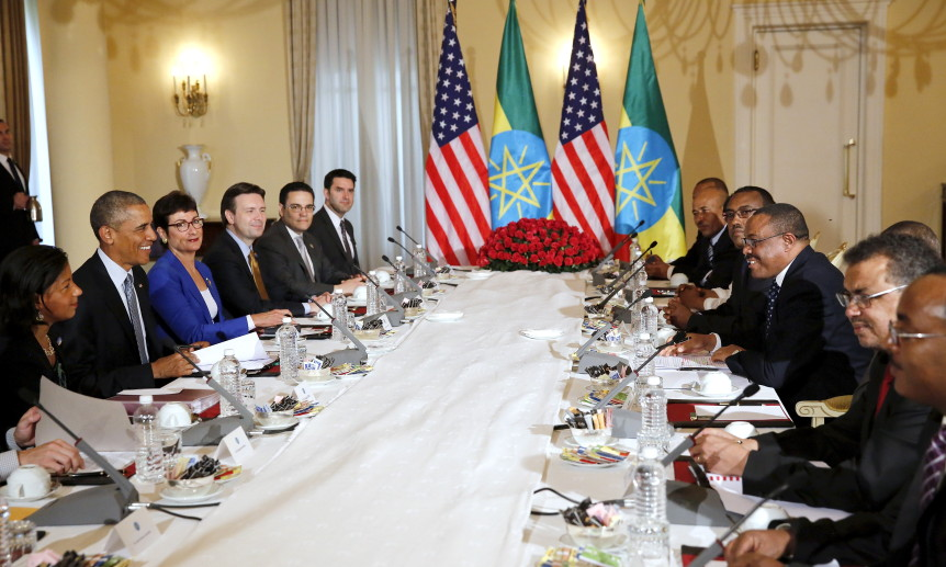 Prime Minister Desalegn and President Obama hold bilateral meetings during Ethiopia visit