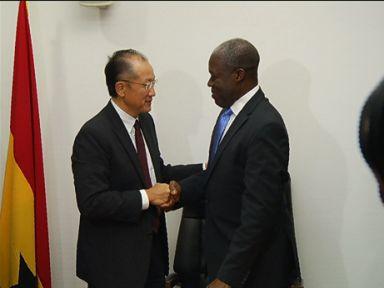 World Bank President Jim Kim and Ghanian President John Dramani Mahama