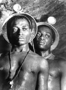 South African diamond miners in the 50's
