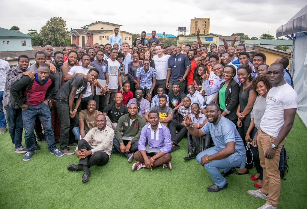 Jean and Steve Case with Andela fellows Credit - Case Foundation