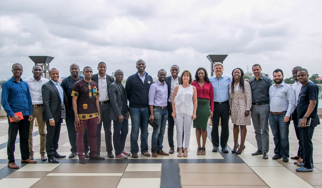 Jean and Steve with E-Commerce entrepreneurs,Lagos Nigeria Credit - Case Foundation