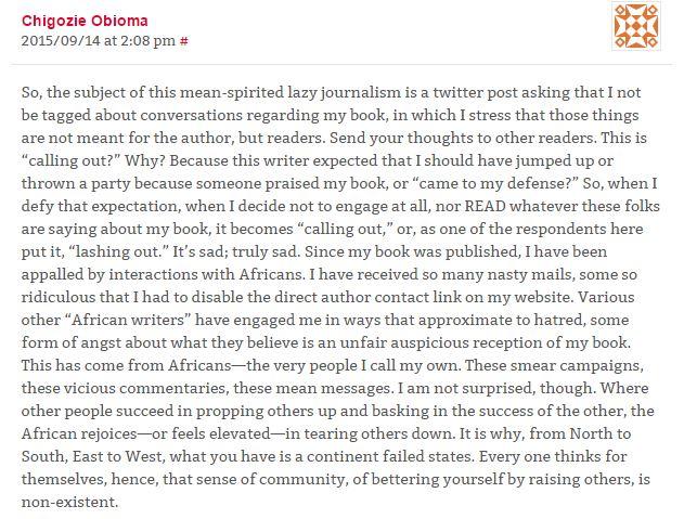 Obioma response