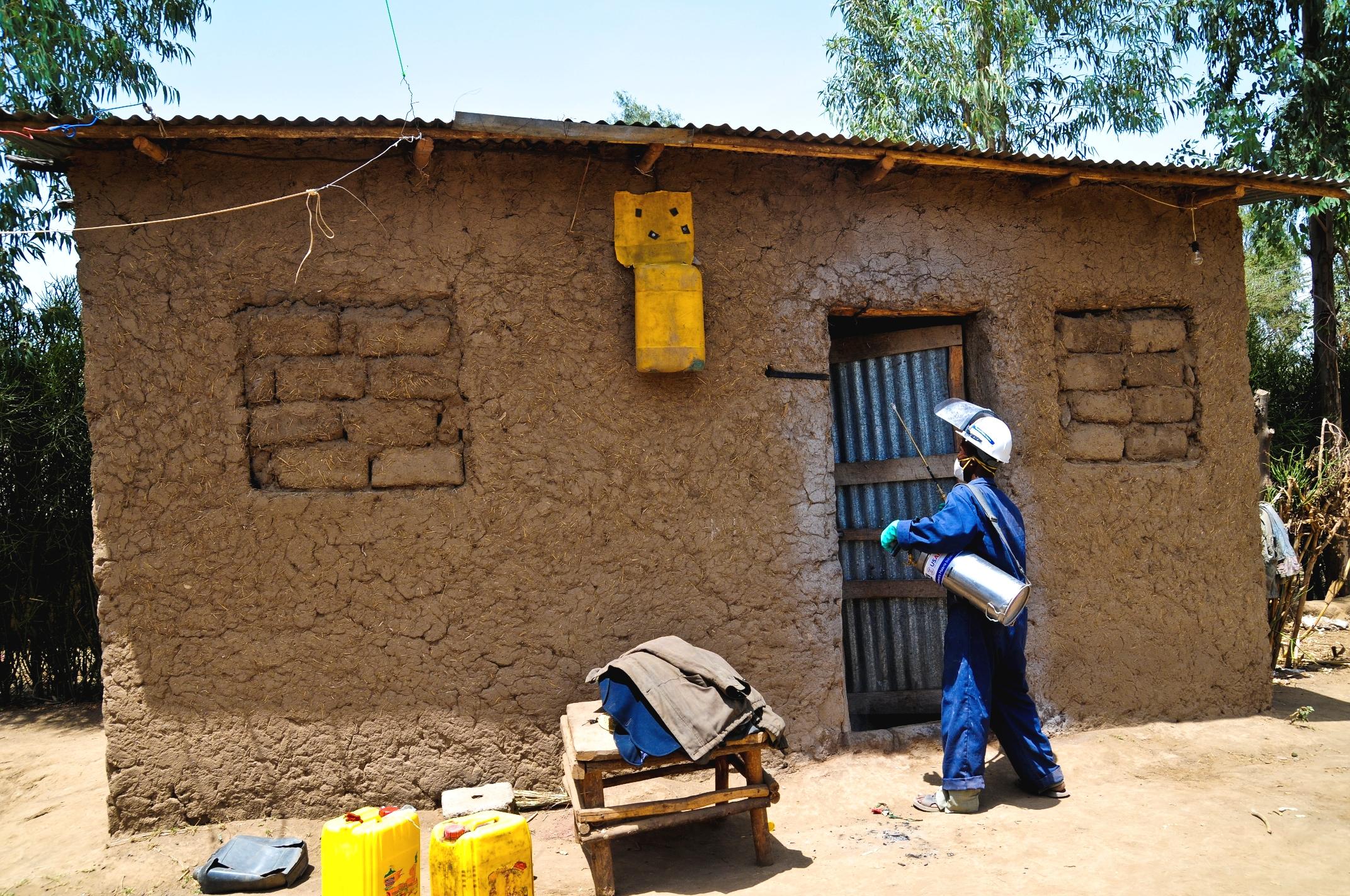 Indoor residual spraying Credit - USAID