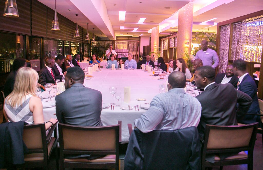 Round-table dinner with investors Credit - Case Foundation