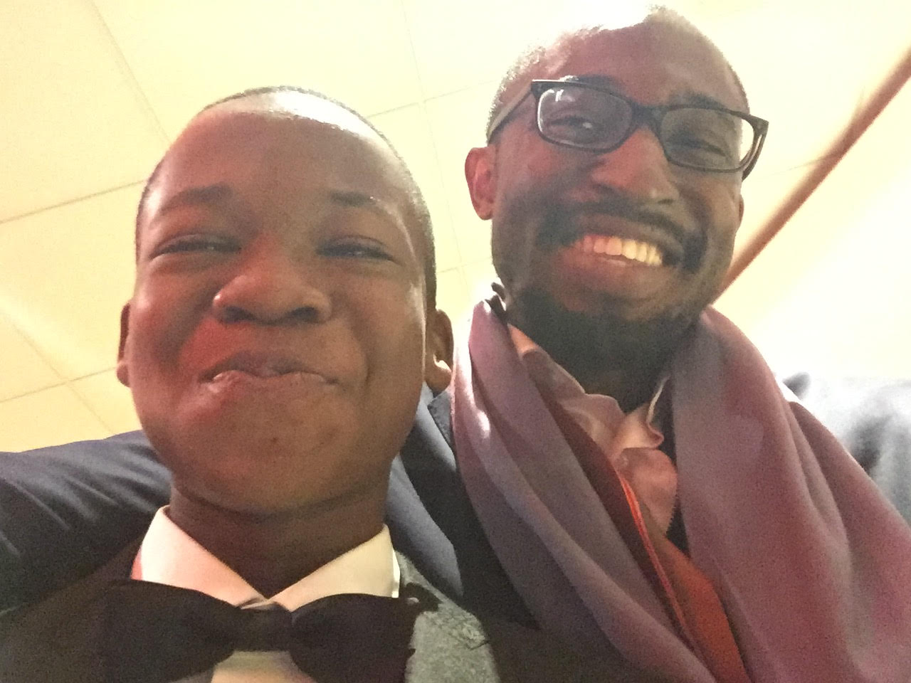 Iweala with Abraham Attah at the London film festival 2015