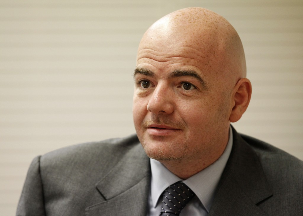 Union of European Football Associations (UEFA) General Secretary Gianni Infantino listens during an interview with Reuters at the UEFA headquarters in Nyon, in this July 5, 2011 file picture. To end lavish spending, UEFA has devised new regulations to force clubs to pay out no more than they earn. The new rules, which UEFA calls Financial Fair Play (FFP), begin August 2011 with the start of the European season. Clubs will have two years to begin balancing their books. If they don't meet FFP targets from the 2013/14 season, UEFA says it will expel them from club soccer's premier Champions League competition. That would lose a club tens of millions of euros in television revenue plus the global exposure that helps generate millions more in merchandise sales.   To match Special Report SOCCER-FAIRPLAY/    REUTERS/Ruben Sprich/Files (SWITZERLAND - Tags: SPORT SOCCER HEADSHOT BUSINESS)