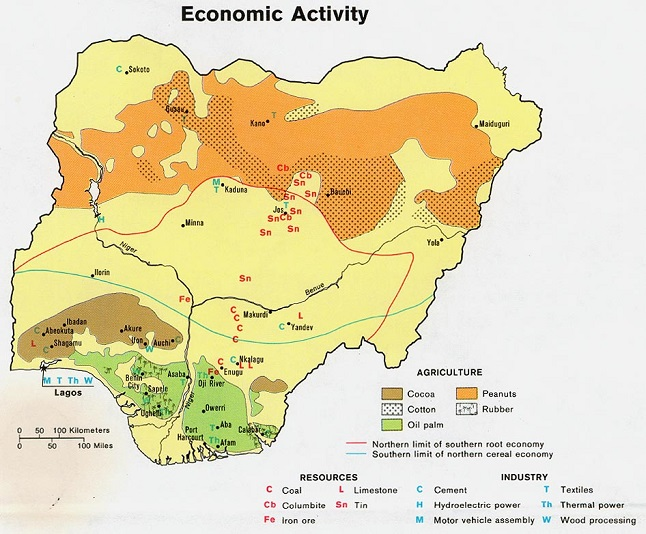 Map Of Natural Resources In Nigeria