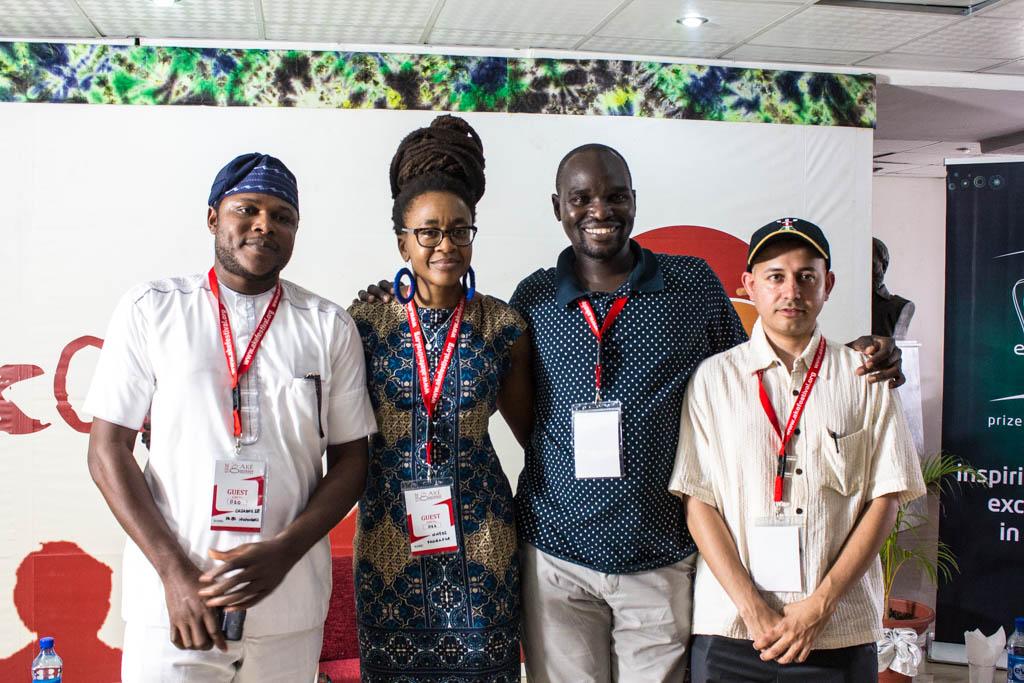 Mazi Fred Nwonwu, Nnedi Okorafor, Dilman Dila and Mehul Gohil