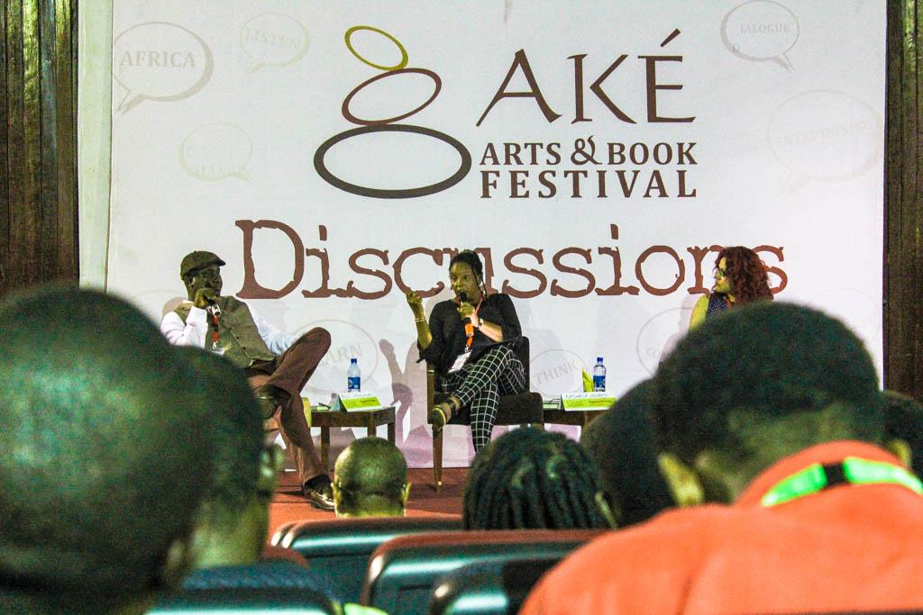 L-R: Pius Adesanmi, Kadaria Ahmed and Mona Eltahawy.