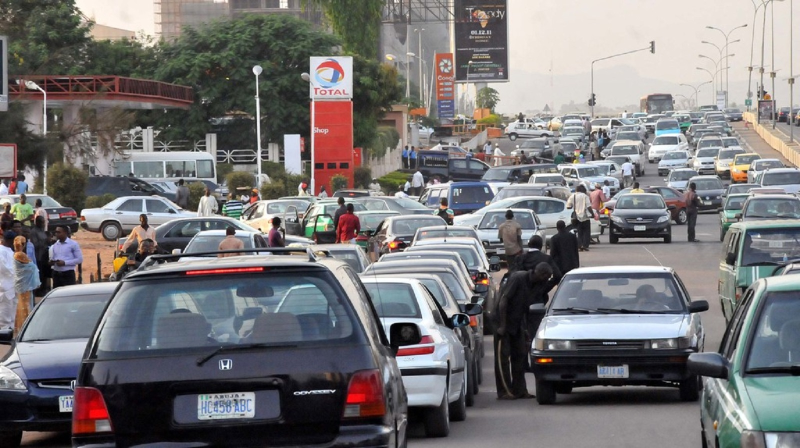 Image result for traffic caused by fuel scarcity
