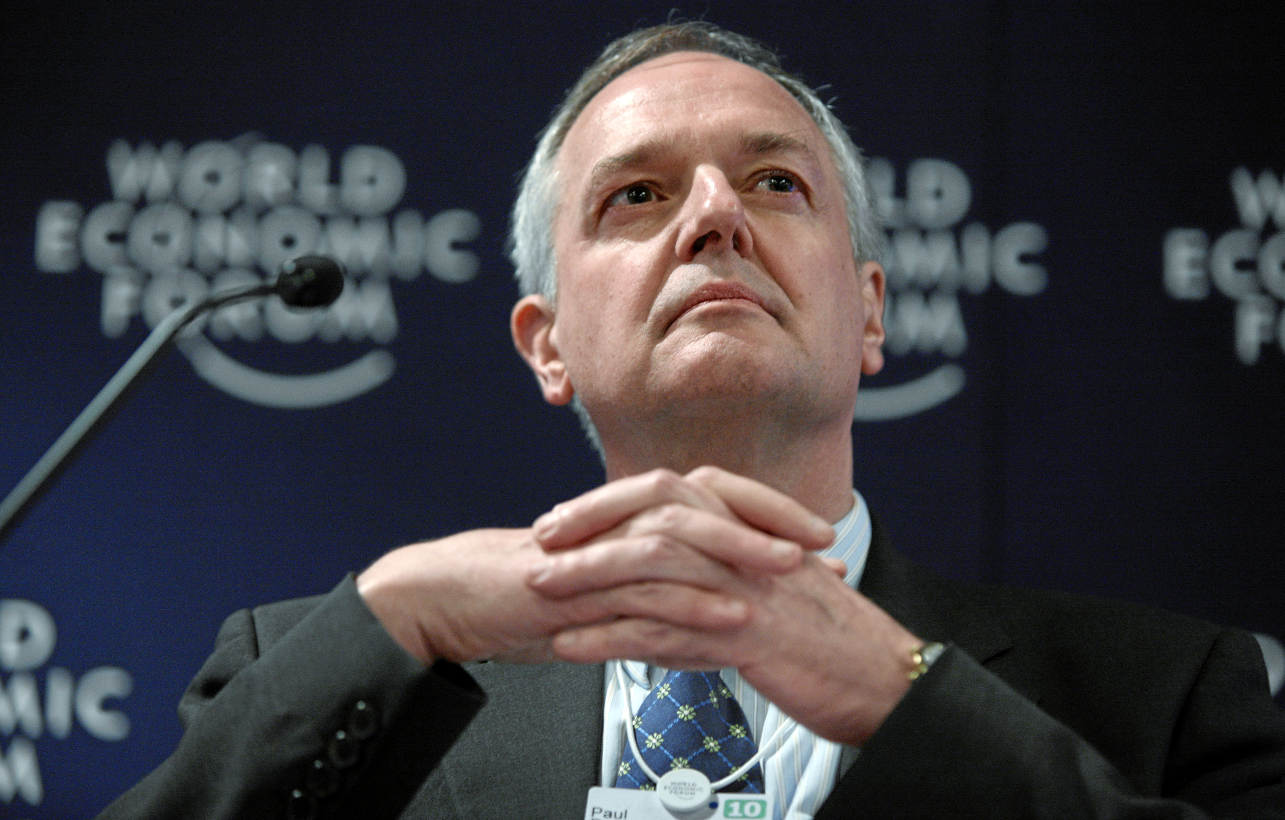 DAVOS/SWITZERLAND, 28JAN10 - Paul Polman, Chief Executive Officer, Unilever, United Kingdom captured during the session 'Redesigning Consumption Patterns' at the Congress Centre at the Annual Meeting 2010 of the World Economic Forum in Davos, Switzerland, January 28, 2010. Copyright by World Economic Forum swiss-image.ch/Photo by Sebastian Derungs