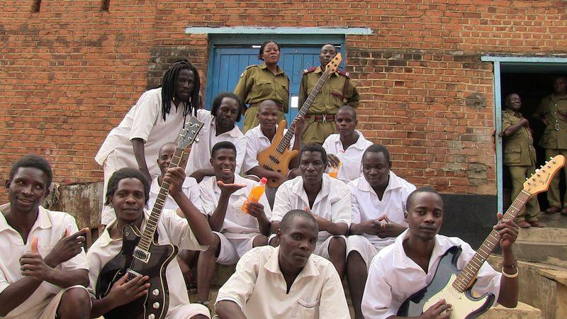 Some of the Zomba Central Prison singers in Malawi.  Credit- Marilena Delli