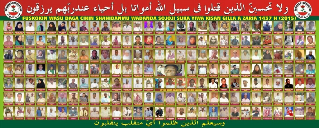 Photos of 705 missing members of the IMN Credit - Islamic Movement of Nigeria Facebook