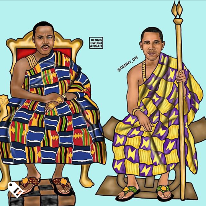 Dr. King and Obama Credit - @denny_ow