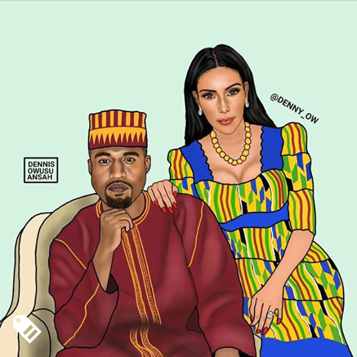 Kim Kardashian and Kanye West Credit - @denny_ow