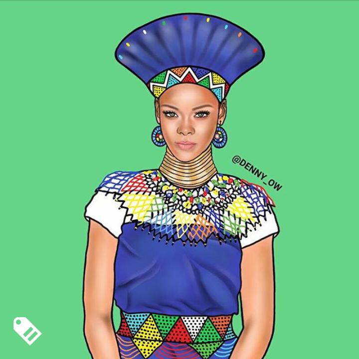 Rihanna Credit - @denny_ow