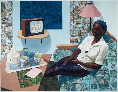 Super Blue Omo by Njideka Akunyili Crosby Credit - victoria-miro.com