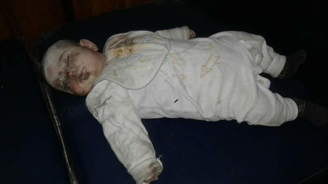 dead baby in Aleppo