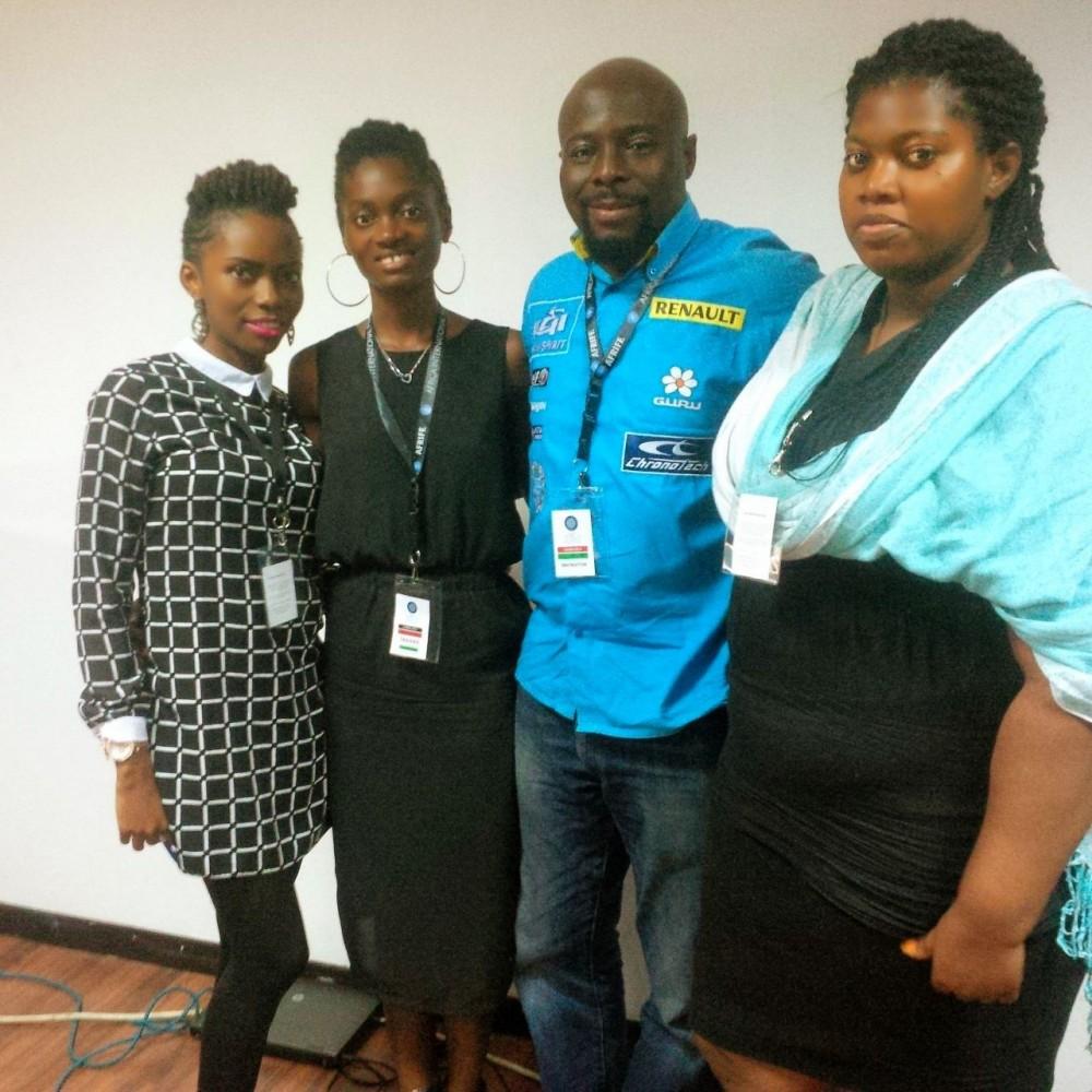Jennifer with Mr. Babalola and coursemates.