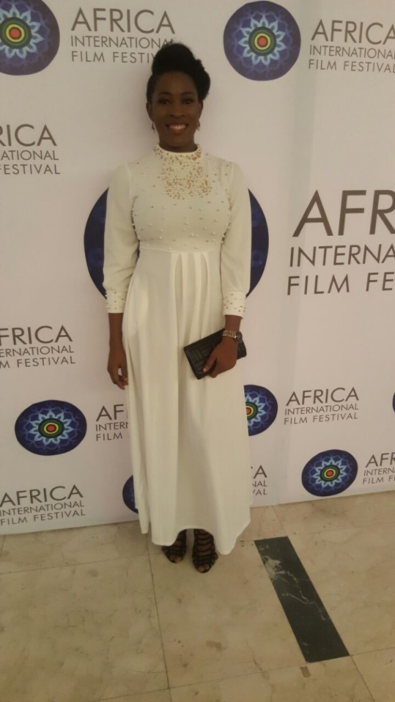 Tope at the AFRIFF 2016 Globe Awards.