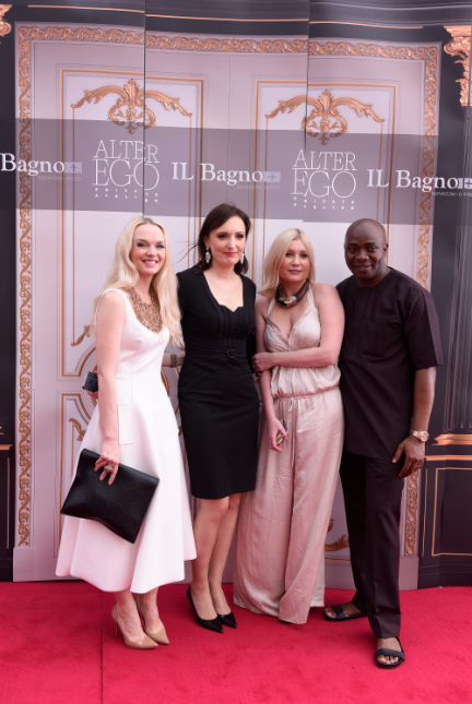 L-R: Julia D. Lantieri, CEO, Alter Ego Project Group, Anna Kuzmina, Director, Alter Ego Italian Division, Larisa Girenok, Head of Global Communications & PR, Alter Ego Project Group and Michael Owolabi, CEO, IL Bagno