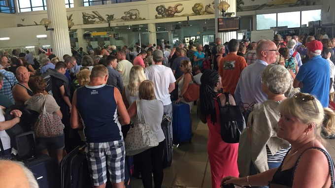 Tourists at Banjul airport in The Gambia. Credit: Associated Press
