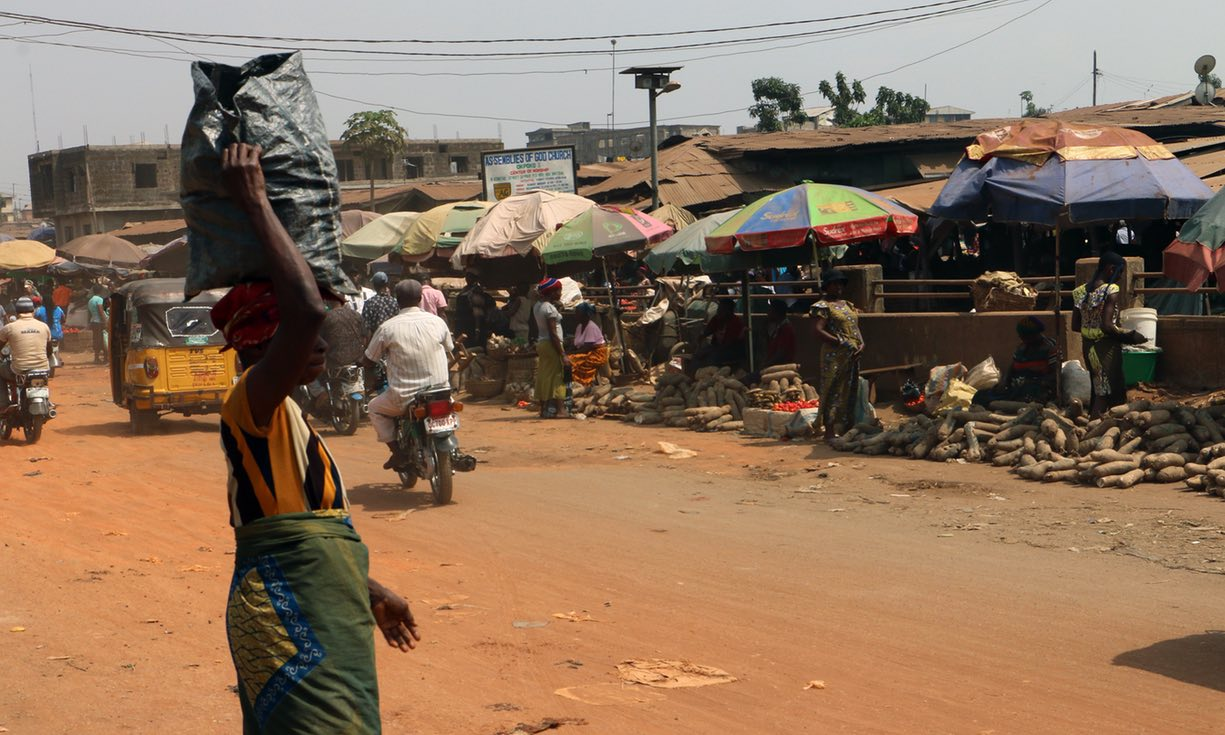 Some residents of Onitsha are unaware of the dangerous levels of pollution. Photograph: Hadassah Egbedi for the Guardian