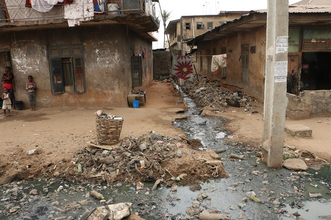 Rubbish clogs Onitsha's streets, drainages and canals. Credit: Hadassah Egbedi