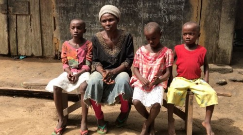 Affiong Effiong with some of her children Credit - Editi Effiong